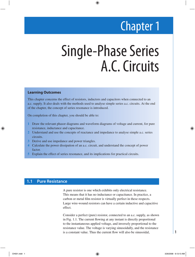 Circuit It Is The Effective Opposition Offered By Lcr Circuit For The
