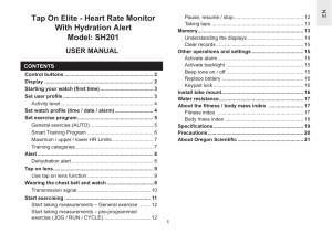Tap On Elite - Heart Rate Monitor With Hydration Alert Model: SH201