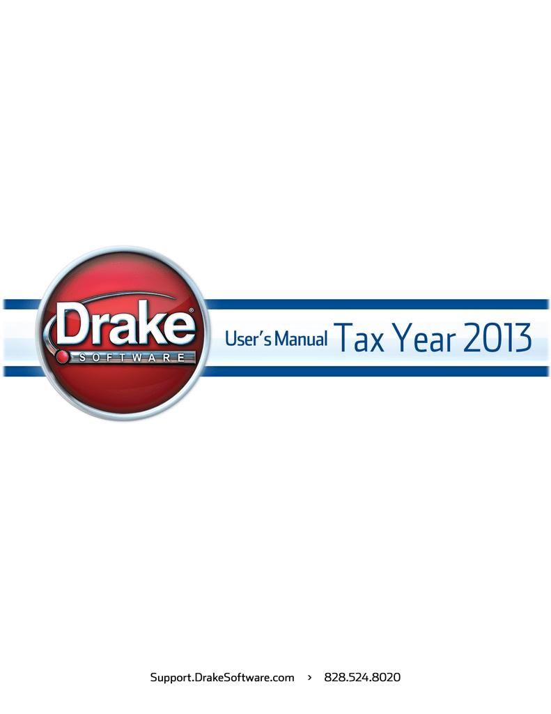 Drake Software User`s Manual