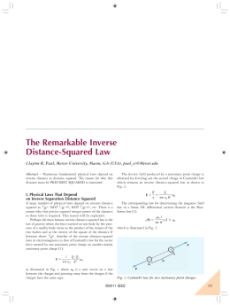 The Remarkable Inverse Distance-Squared Law