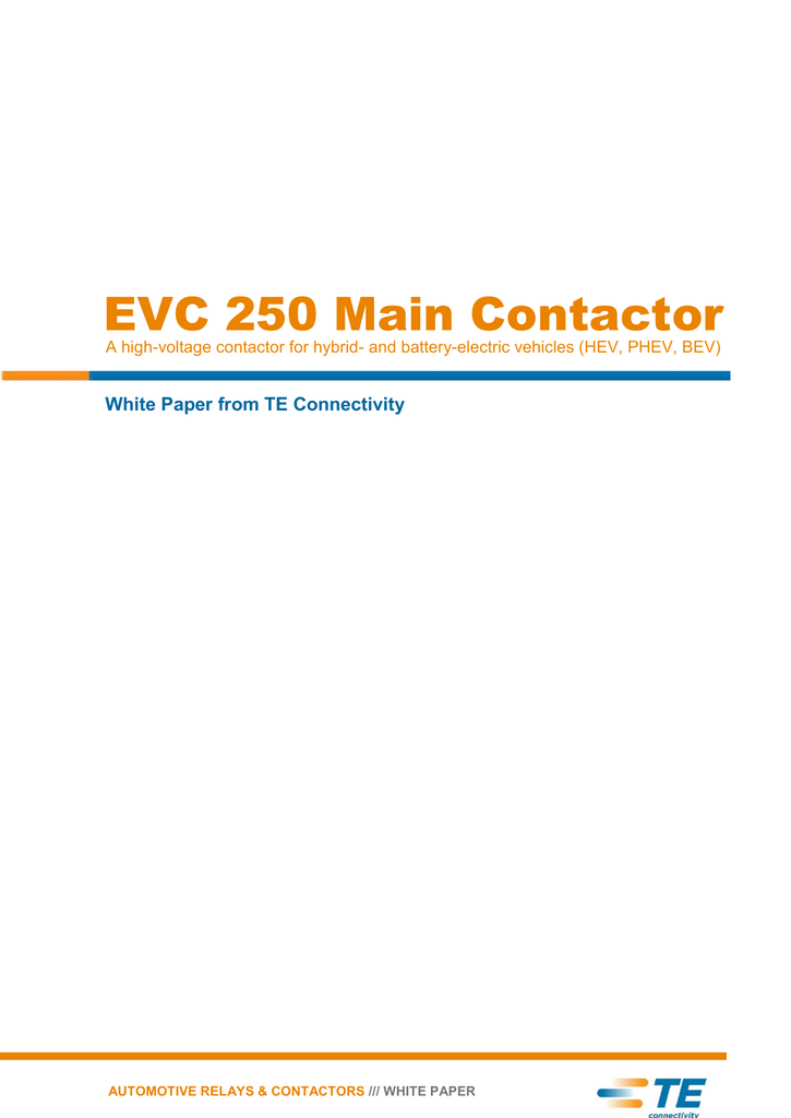 EVC 250 Main Contactor