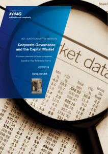 Corporate Governance and the Capital Market