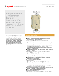 Hospital-Grade Combination Tamper- Resistant 20A Self