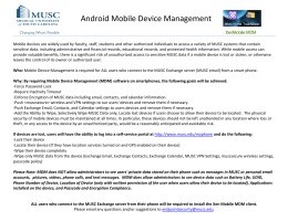 !!Android!Mobile!Device!Management!!!!
