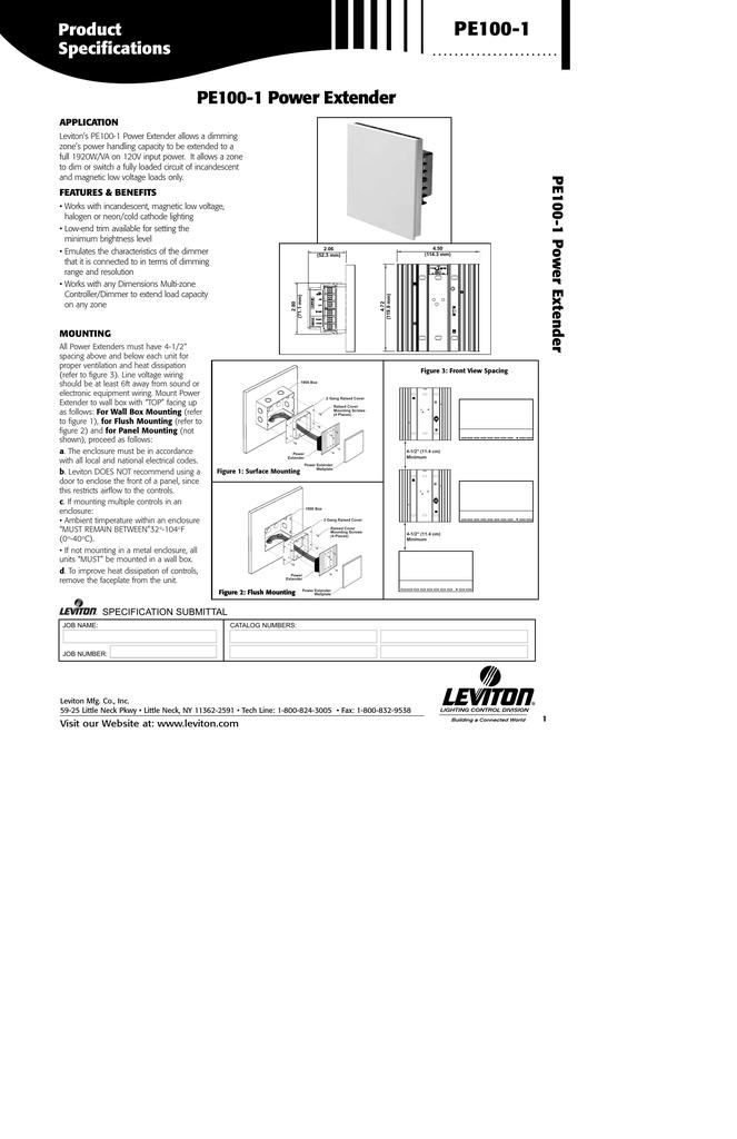 PE100-1 - Leviton.com