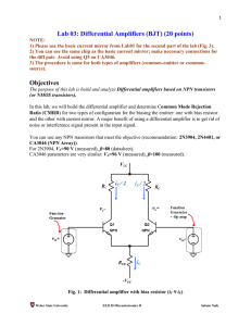 Lab 03: Differential Amplifiers (BJT)