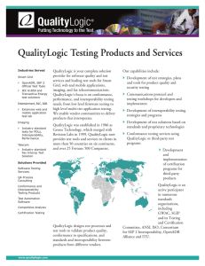 QualityLogic Overview brochure