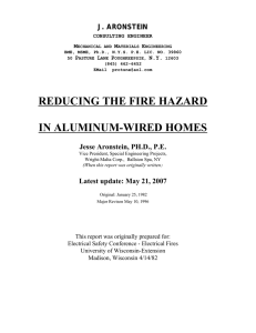 reducing the fire hazard in aluminum-wired homes