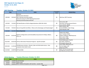 WICF Agenda for San Diego, CA October 13