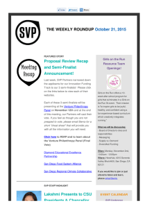 SDSVP Newsletter – October 21st, 2015