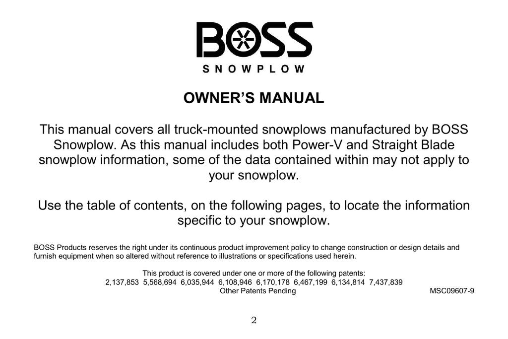 boss snow plow headlight wiring diagram owner s manual boss snowplow  owner s manual boss snowplow