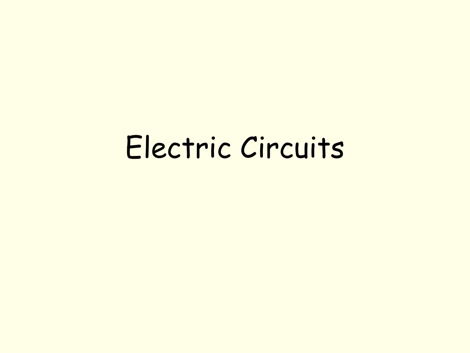 Electric Circuits - Foothill High on