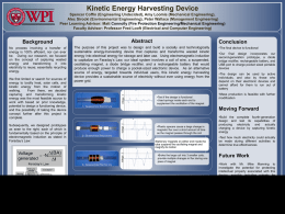 Kinetic Energy Harvesting Device