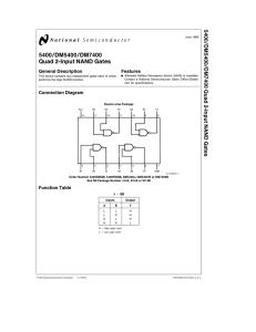 54ls00 dm54ls00 dm74ls00 quad 2 input nand gates general description Xand Gate 7400