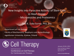 New Insights into Paracrine Activity of Stem Cells in