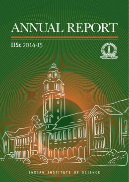 Annual Report - Indian Institute of Science Bangalore
