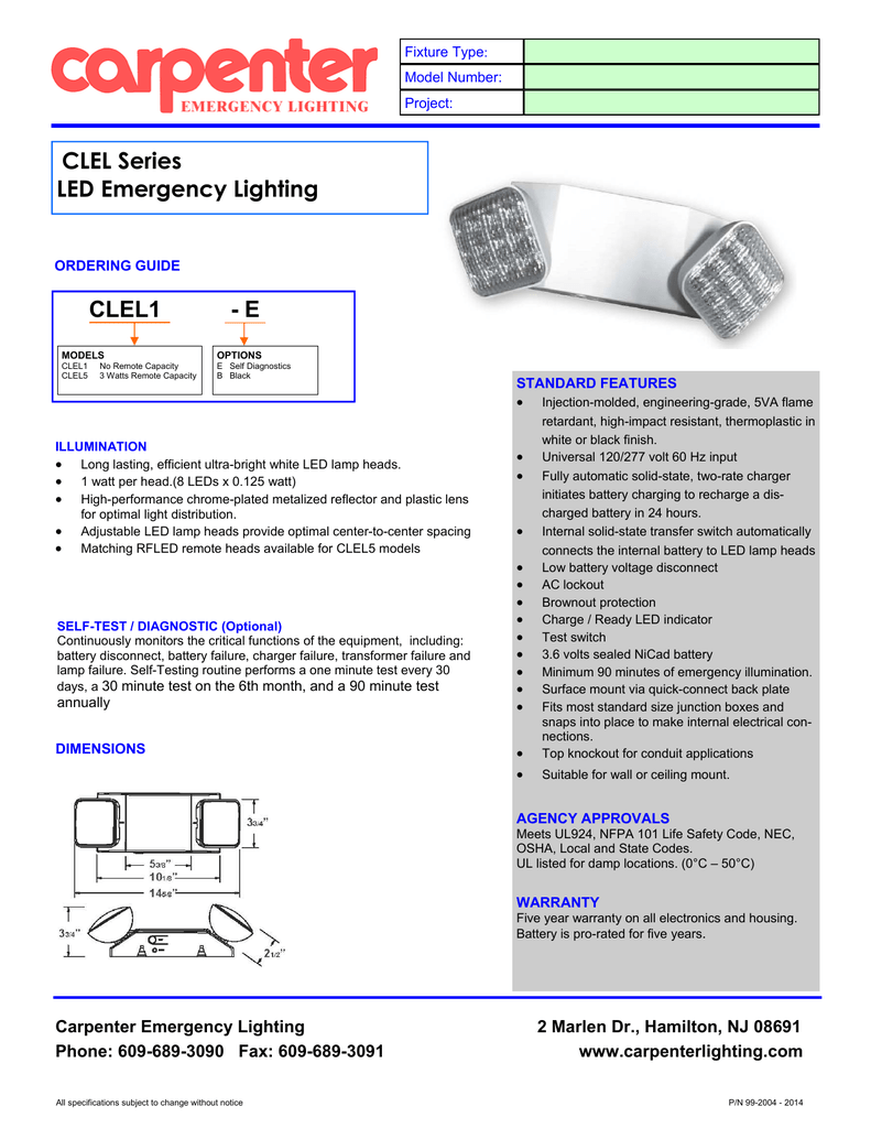 Clel Series Led Emergency Lighting