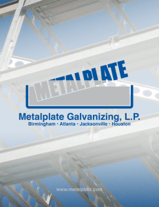 Metalplate Galvanizing`s Brochure