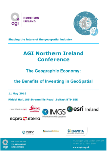 AGI Northern Ireland Conference The Geographic Economy