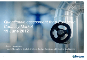Quantitative assessment for an European Capacity Market