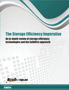 The Storage Efficiency Imperative