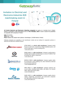 Invitation to Electrical and ElectronicsIndustries B2B matchmaking