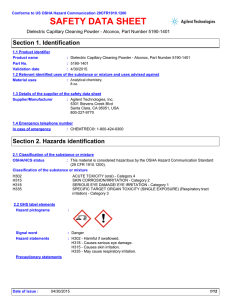 safety data sheet - Agilent Technologies