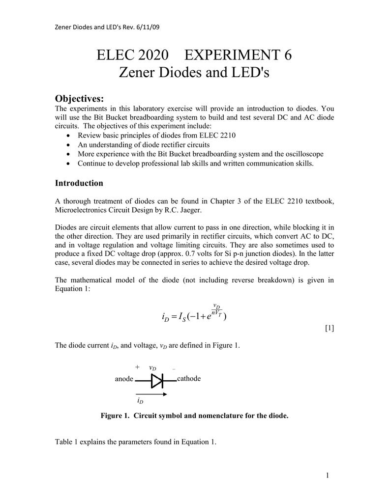 Ecgr 2255 Lab Write Ups Diode In Ac Circuit