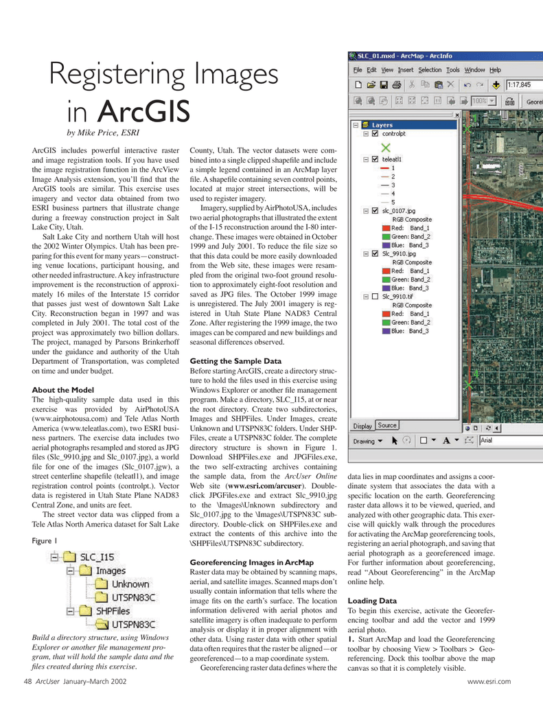 Registering Images in ArcGIS