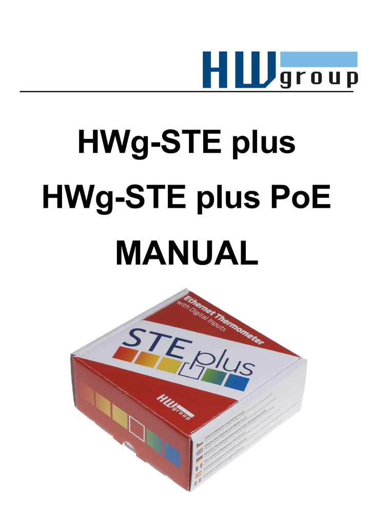 HW GROUP HWG-STE PLUS TEMPERATURE SENSOR WINDOWS 7 64 DRIVER
