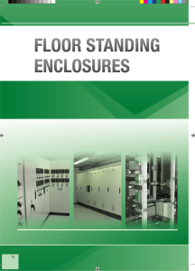 floor standing enclosures