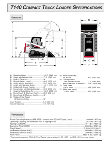 t140 compact track loader specifications