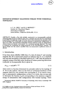 MINIMUM ENERGY MAGNETIC FIELDS WITH TOROIDAL