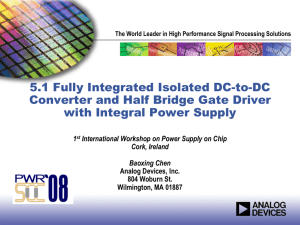 Fully integrated isolated dc-dc converters and isolated half bridge
