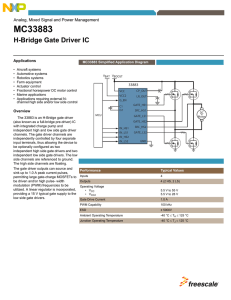 MC33883FS, H-Bridge Gate Driver IC