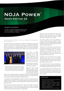 NOJA Power® News Edition 22