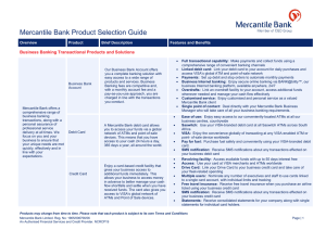 Mercantile Bank Product Selection GuideV3