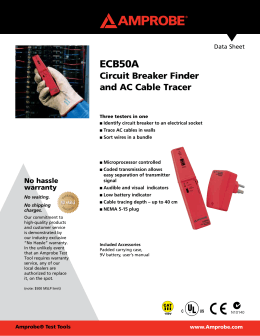 ECB50A Circuit Breaker Finder and AC Cable Tracer