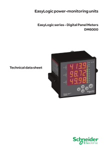 EasyLogic power-monitoring units