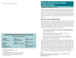 Evidence-Based Practices at School: A Guide for