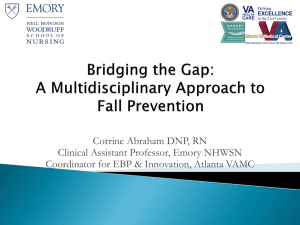 Bridging the Gap: A Multidisciplinary Approach to Fall Prevention