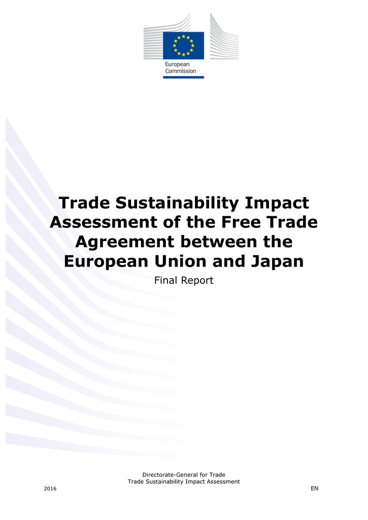 Trade Sustainability Impact Assessment of the Free Trade