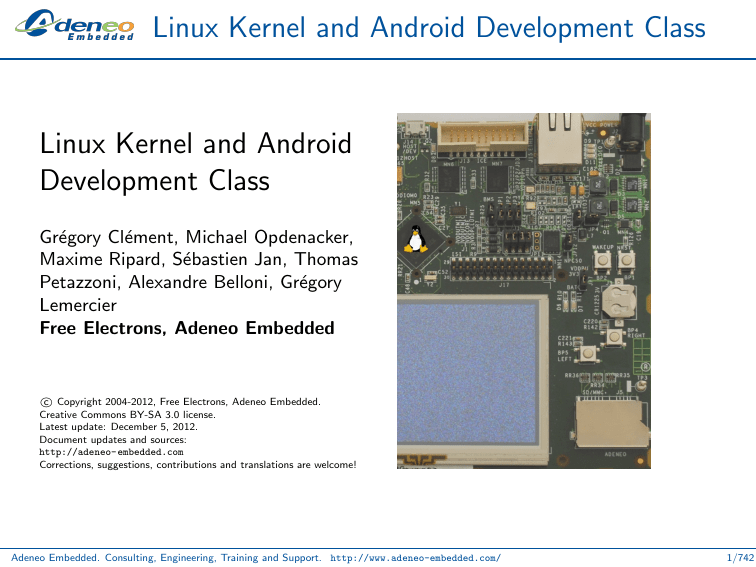 Linux Kernel and Android Development Class Linux