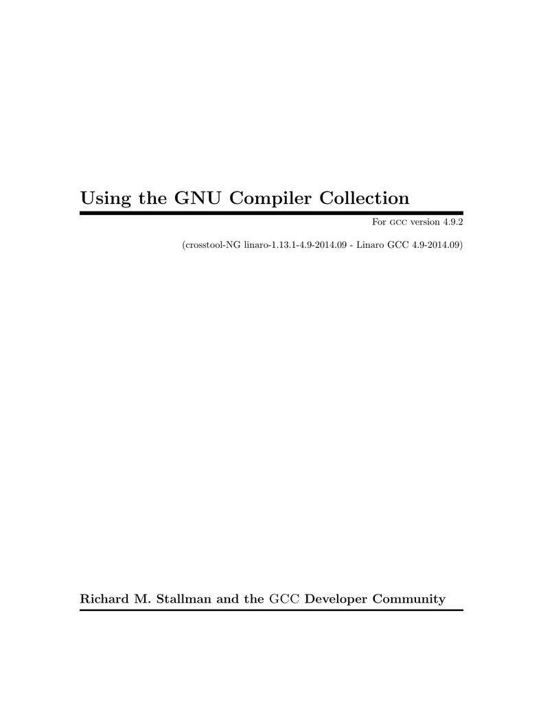 "Reporting Bugs"" in Using the GNU Compiler"
