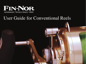 User Guide for Conventional Reels - Fin-Nor
