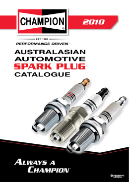 Champion Spark Plugs Catalogue