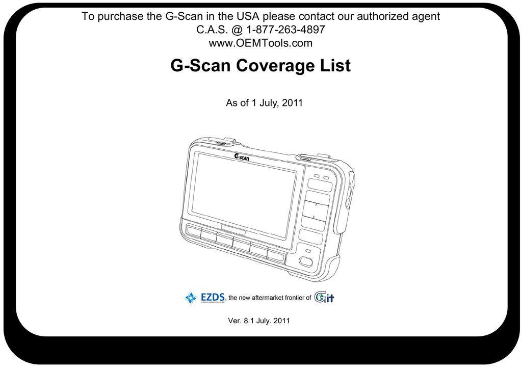 G-Scan Coverage List