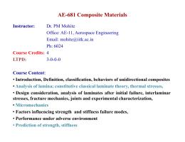 AE-681 Composite Materials