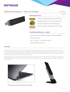 A6200 WiFi USB Adapter — 802.11ac Dual Band