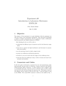 Experiment #0 Introduction to Laboratory Electronics ENPH 259